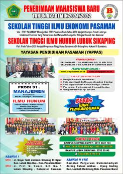Penerimaan Mahasiswa Baru Tahun Akademik 2021/2022